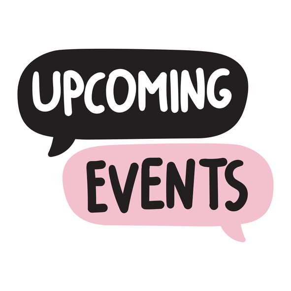 Upcoming events. Vector on white background.
