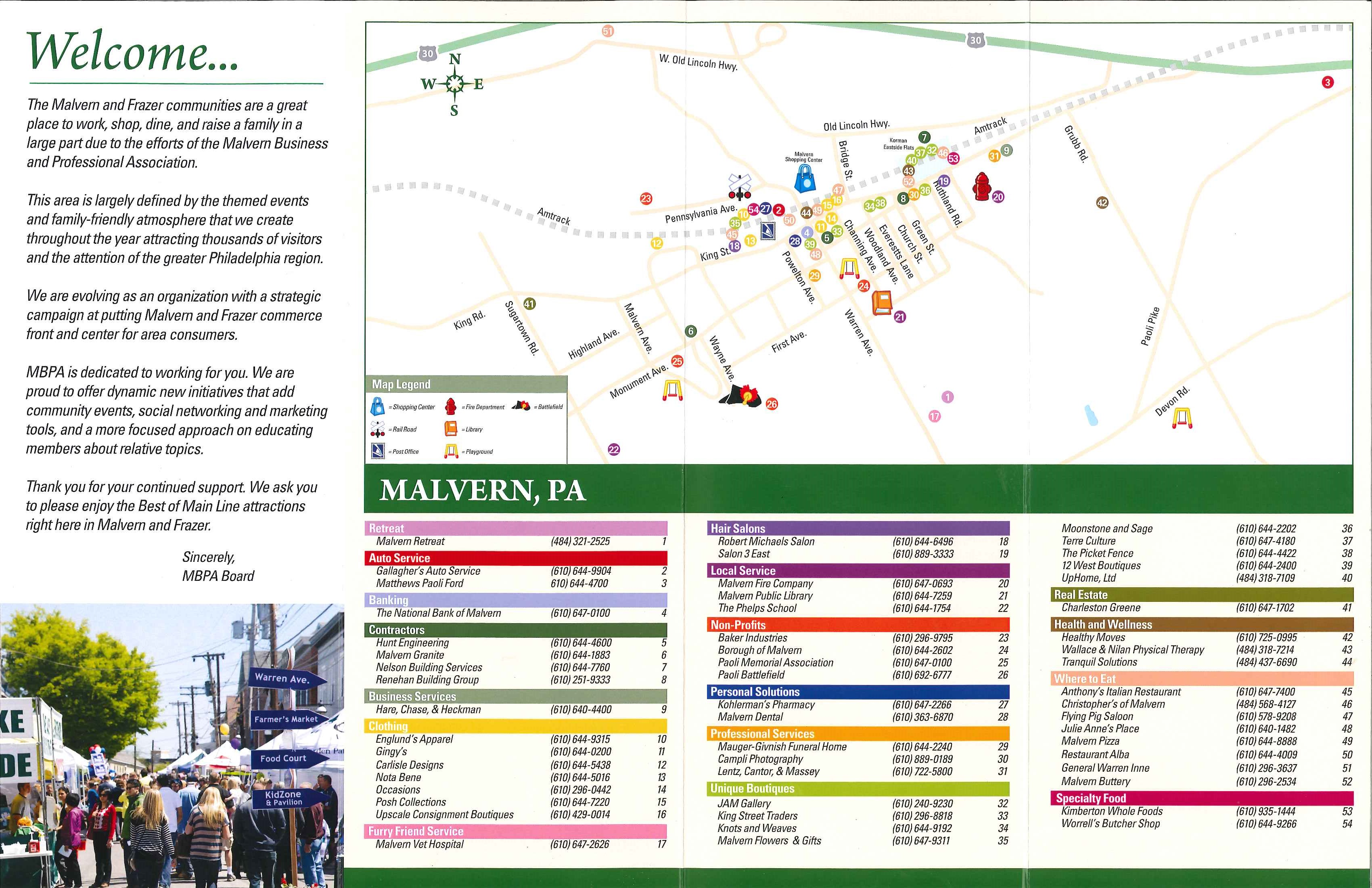 Malvern Business Map
