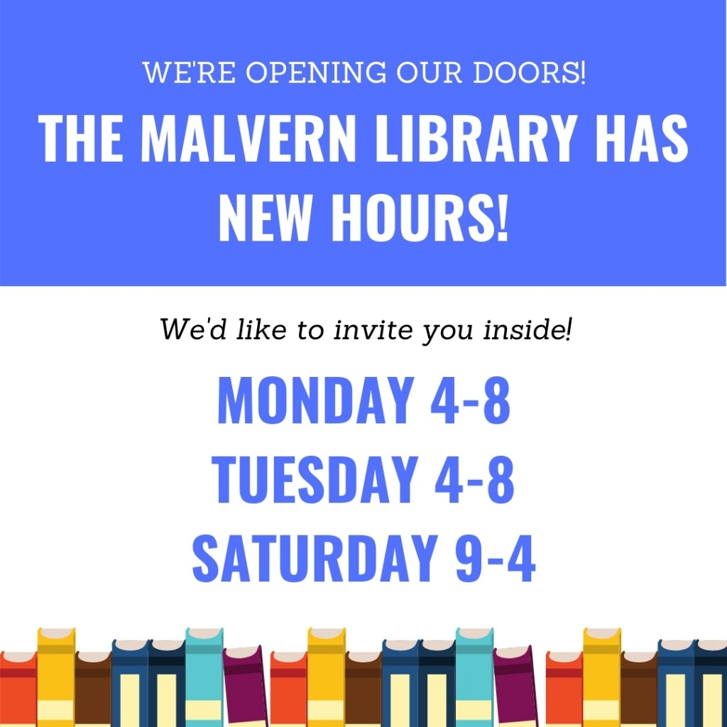 Malvern Library New Hours